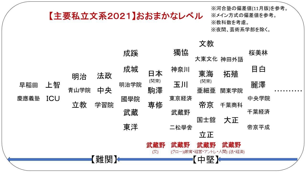 武蔵野 大学 偏差 値